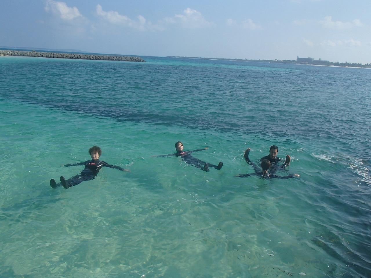 体験ダイビングの前の体をクールダウン