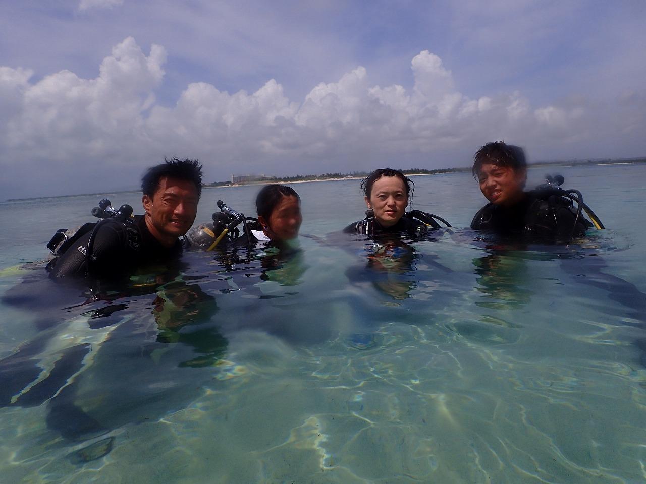 Uファミリー体験ダイビング終了後