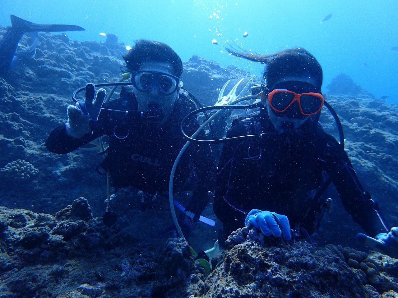 ファンダイビングと体験ダイビングのゲストさん